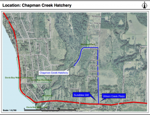 Location of Chapman Creek Hatchery