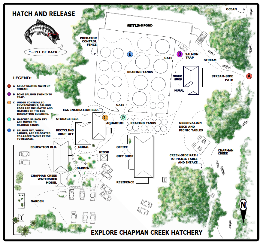 Picture of Chapman Creek Hatchery map