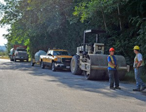 Sunshine Coast Salmonid Enhancement Society hatchery access road resurfacing